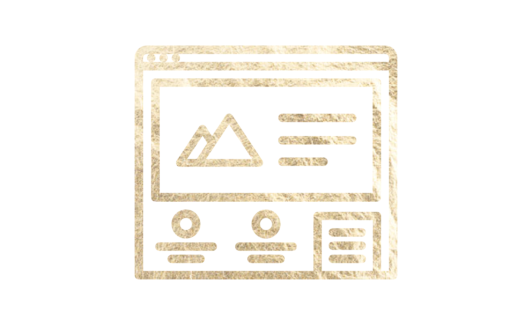 Web page layout icon