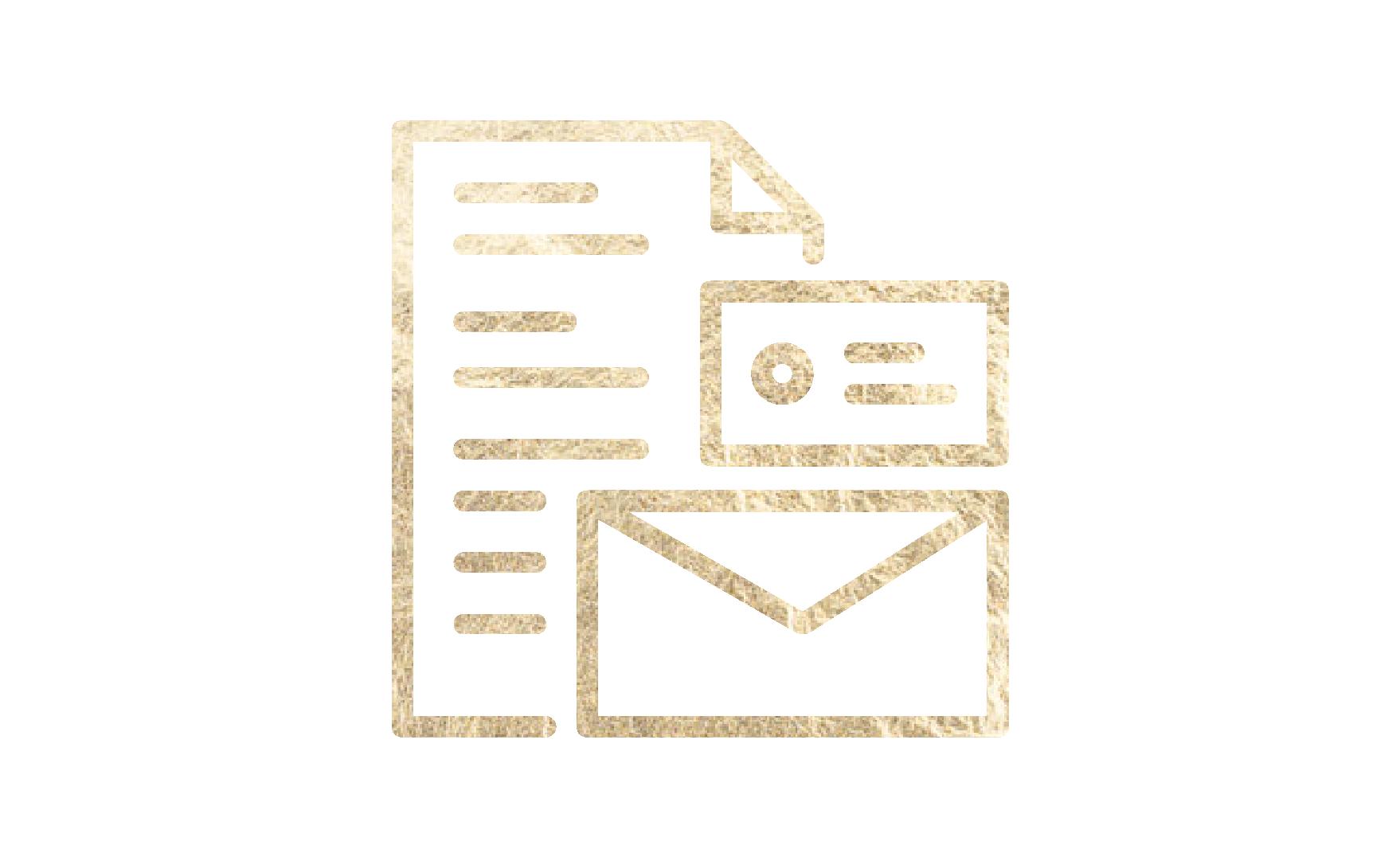 Paper, envelope, card icon