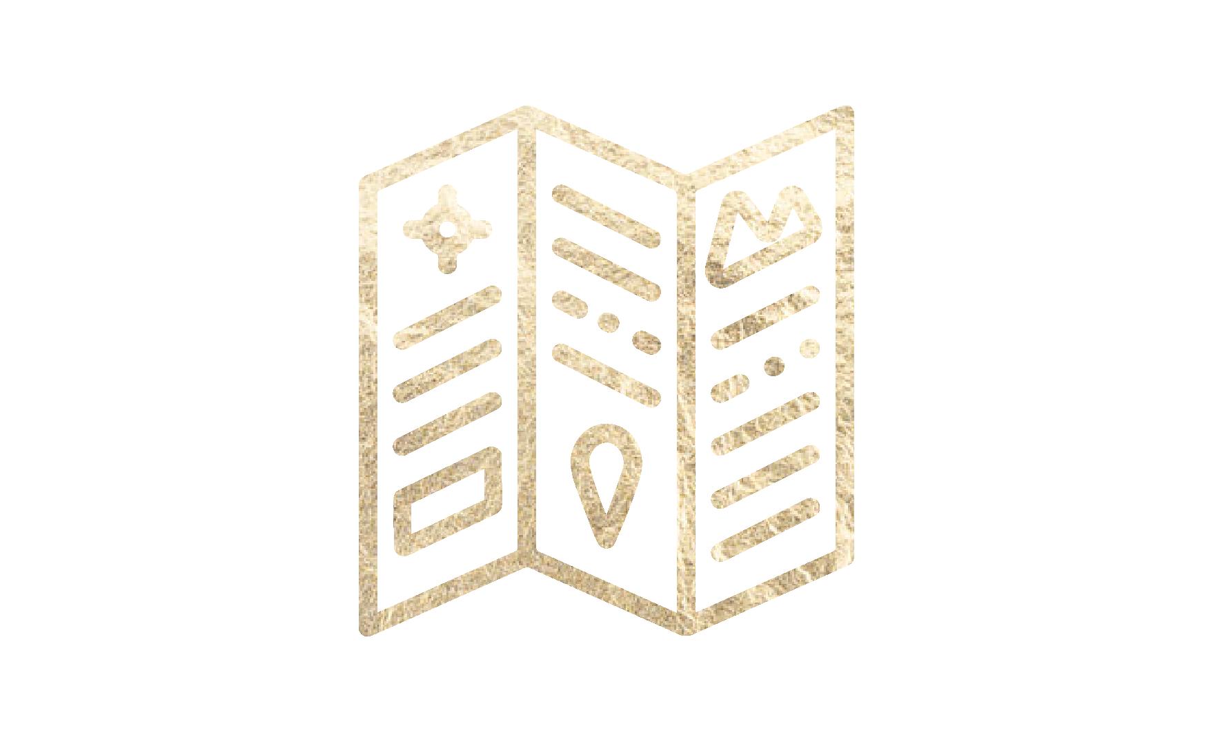 Tri-fold brochure icon