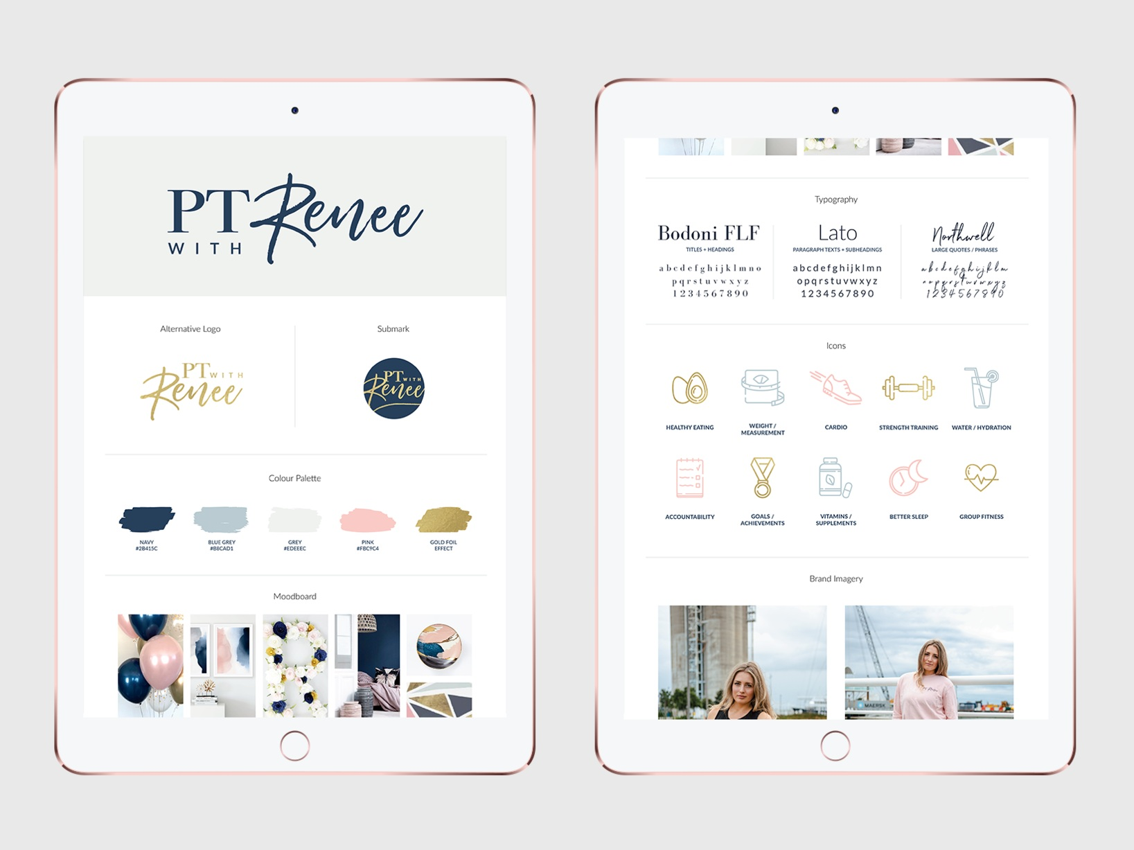 PT with Renee   Logo | Branding | Meal Plan | Measurement Record | Get Started Booklet | Food Diary