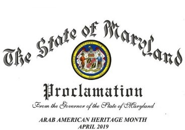 We were able to secure more than eight proclamations from MD and NV. Please click here to see the list. This effort allowed us not only to be part of the Arab America initiative but also to promote our association and our Arab American professionals. I am truly grateful to Amal and Warren David for offering me this opportunity to be part of this great initiative.