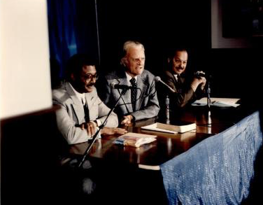 - Press conference at Veterans Stadium for the Billy Graham Crusade with Nelson serving as Co-Chair alongside Rev. Bill Moore.