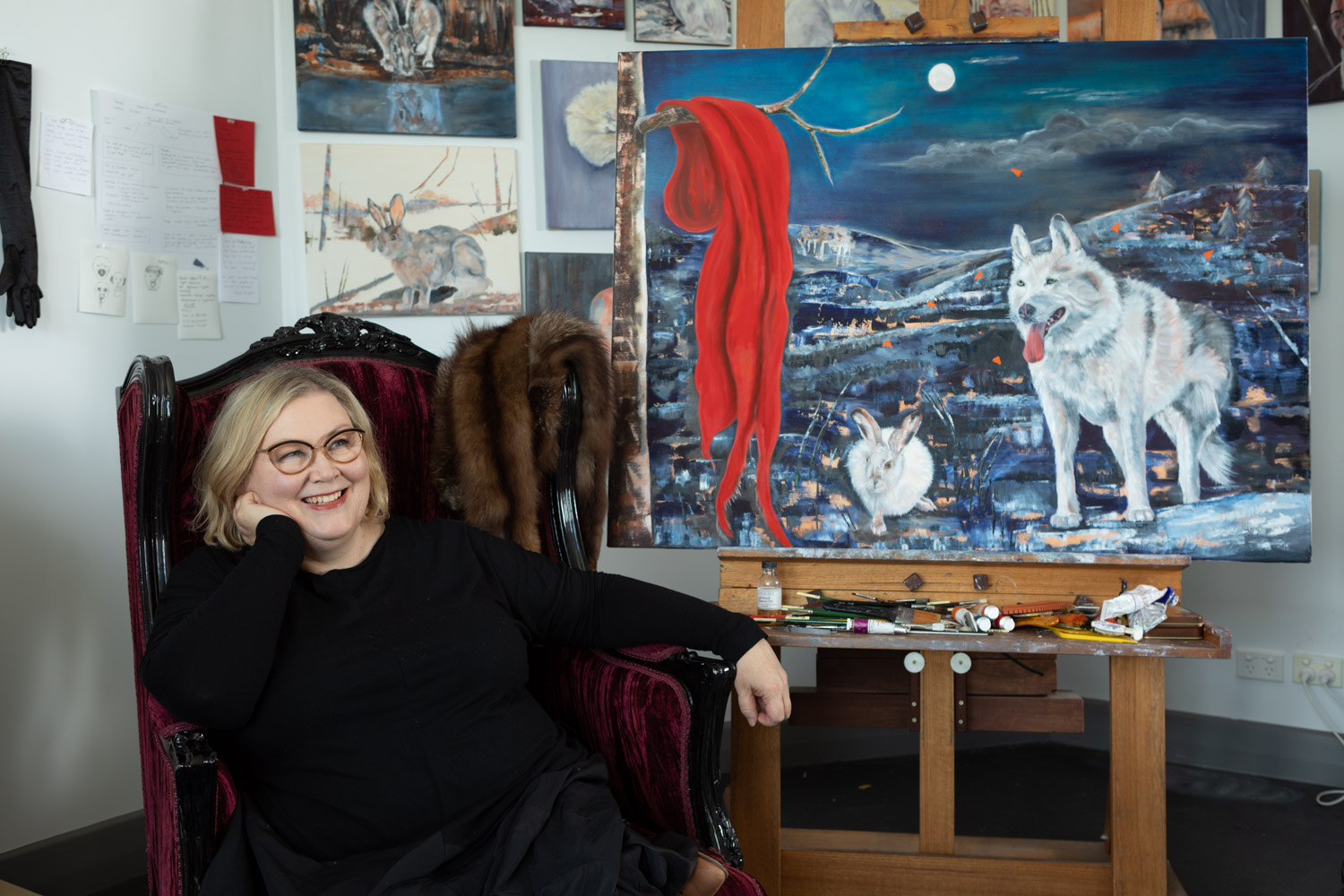 Janice Gobey in her studio - thanks to David Patston for the image