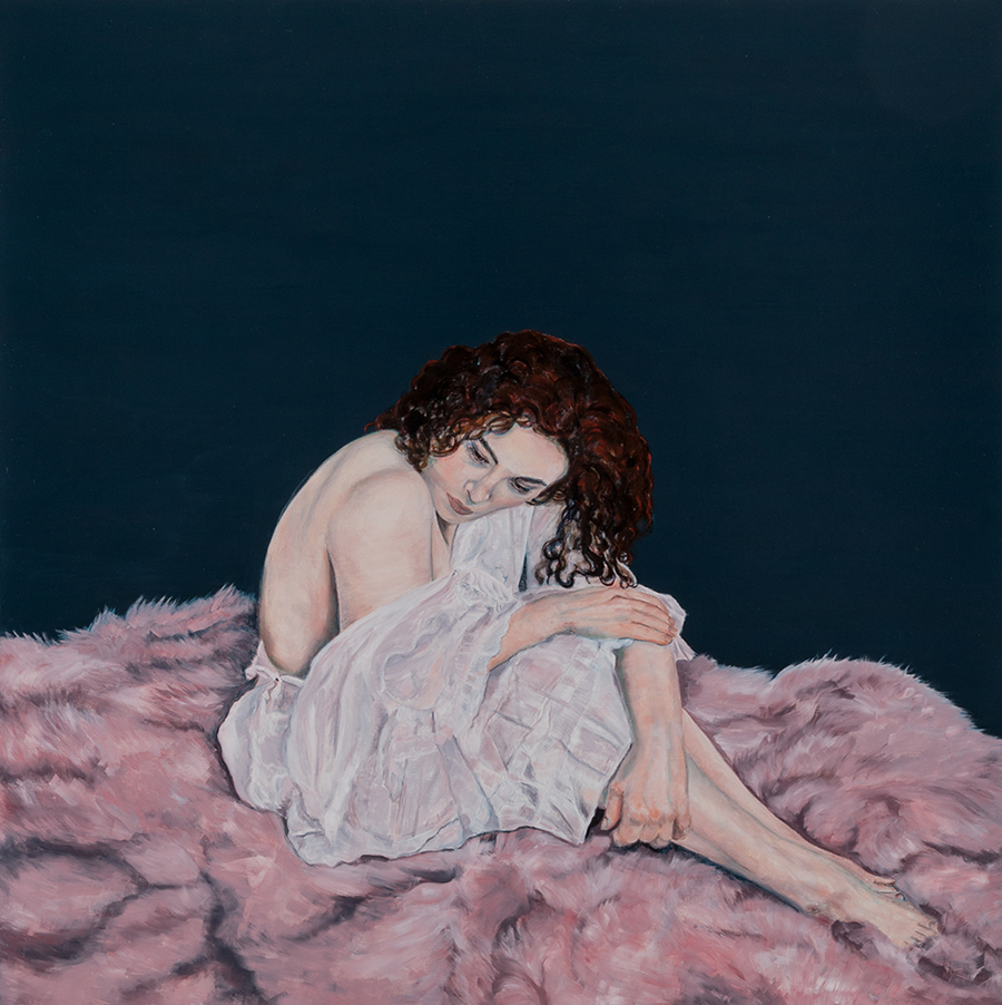 Vulnerability, Janice Gobey, Oil on Linen, 2017, 100 x 100 cm