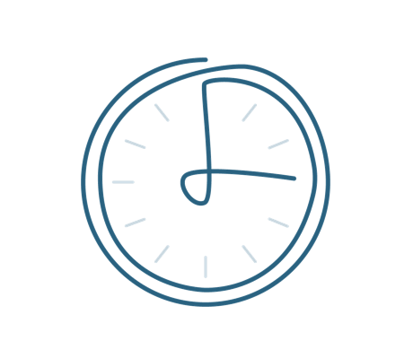 Clock icon symbolizing efficiency and valuable time