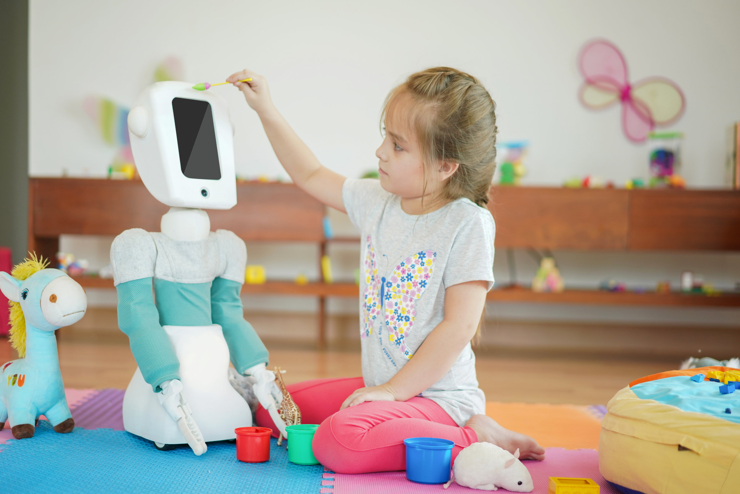 Purchase Cushybot Robot - 1- Place the robot in the place where you would like to play with the child.2- To setup the robot, simply turn it on and connect to the WiFi.