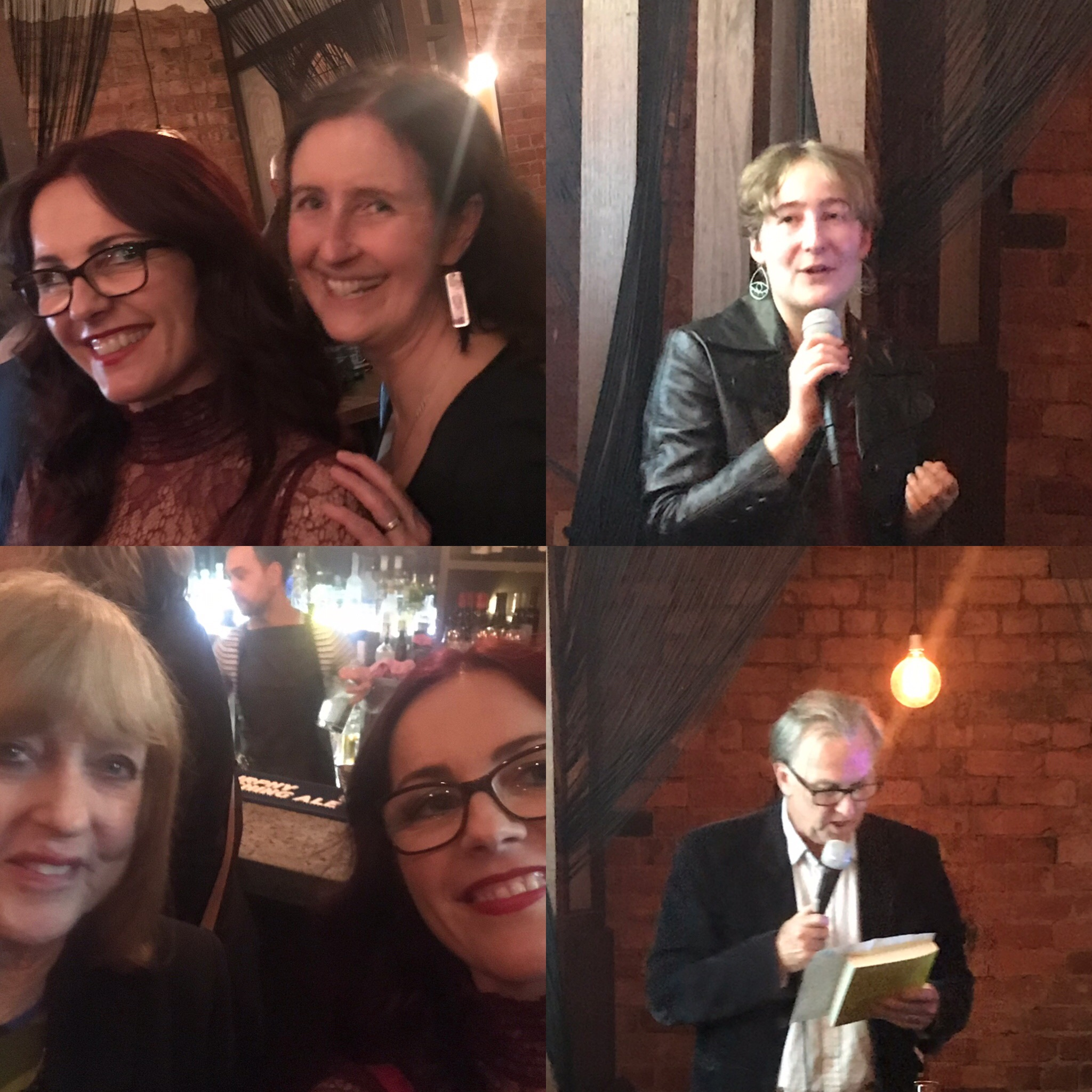 Thrilled to be at the annual Text Party to celebrate this year's Text Prize winner Georgina Young, with my editor from Text Publishing Jane Pearson, winner Georgina (top right), Lauris from Booked Out Speakers Agency (bottom left) and Text's Senior Editor Michael Hawyard.