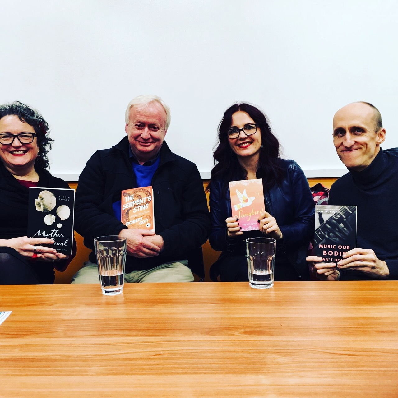 Art Is Festival, Horsham. Author panel: Angela Savage, Robert Gott, myself and Andy Jackson.