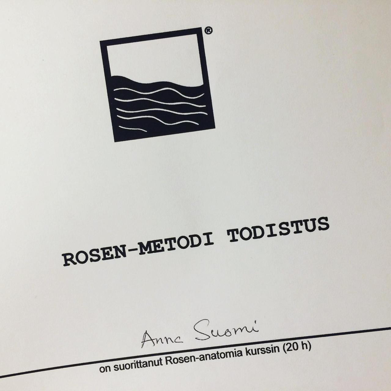 Todistus Rosen-anatomia