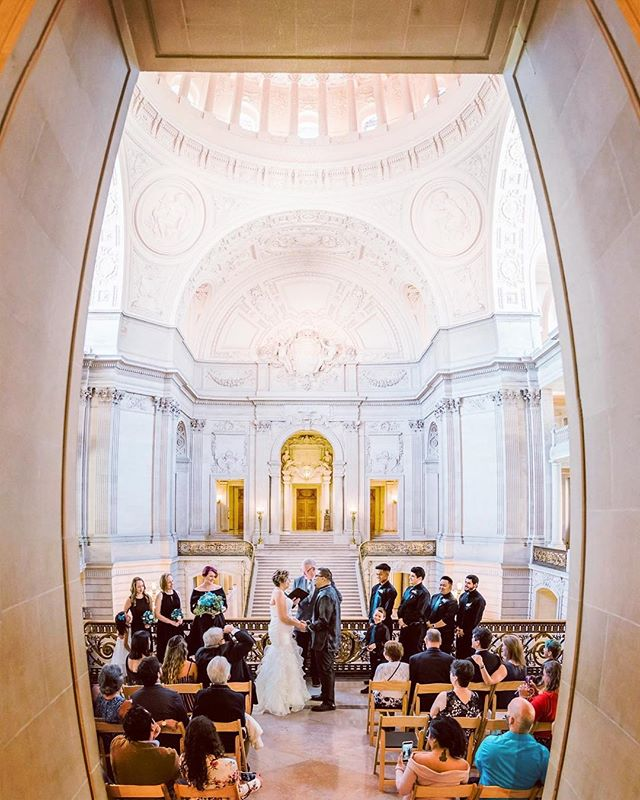 San Francisco City Hall wedding . . . #sacbride #iggers #marthastewartweddings #nikon #igdaily #igerssac #instagood #wedding #weddingday💍 #weddingphotography #weddinginspiration #elopement #elopementphotographer #sacramentophotographer #sanfrancisco #sfphotographer #sfweddingphotographer #destinationwedding #destinationphotographer #sfcityhall #sfcityhallwedding #panorama #realwedding #mastinlabs