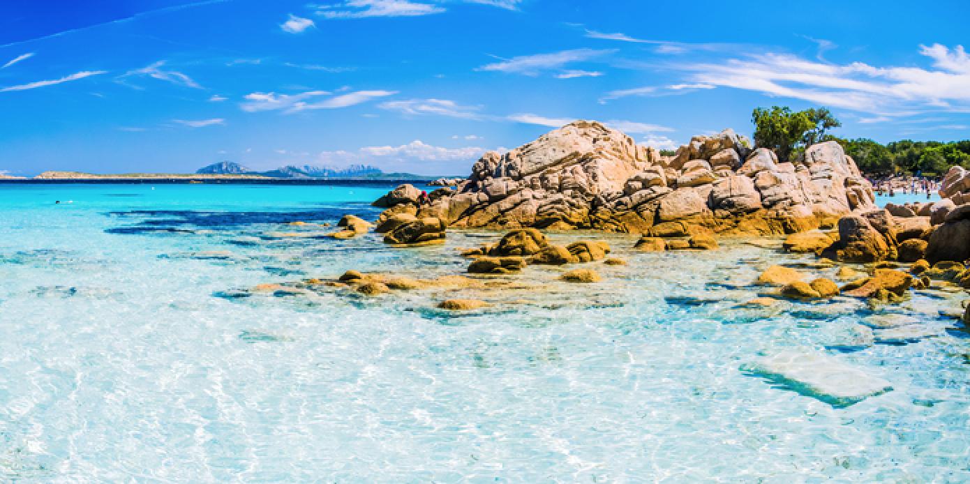 Capriccioli beach, Sardinia, Italy.
