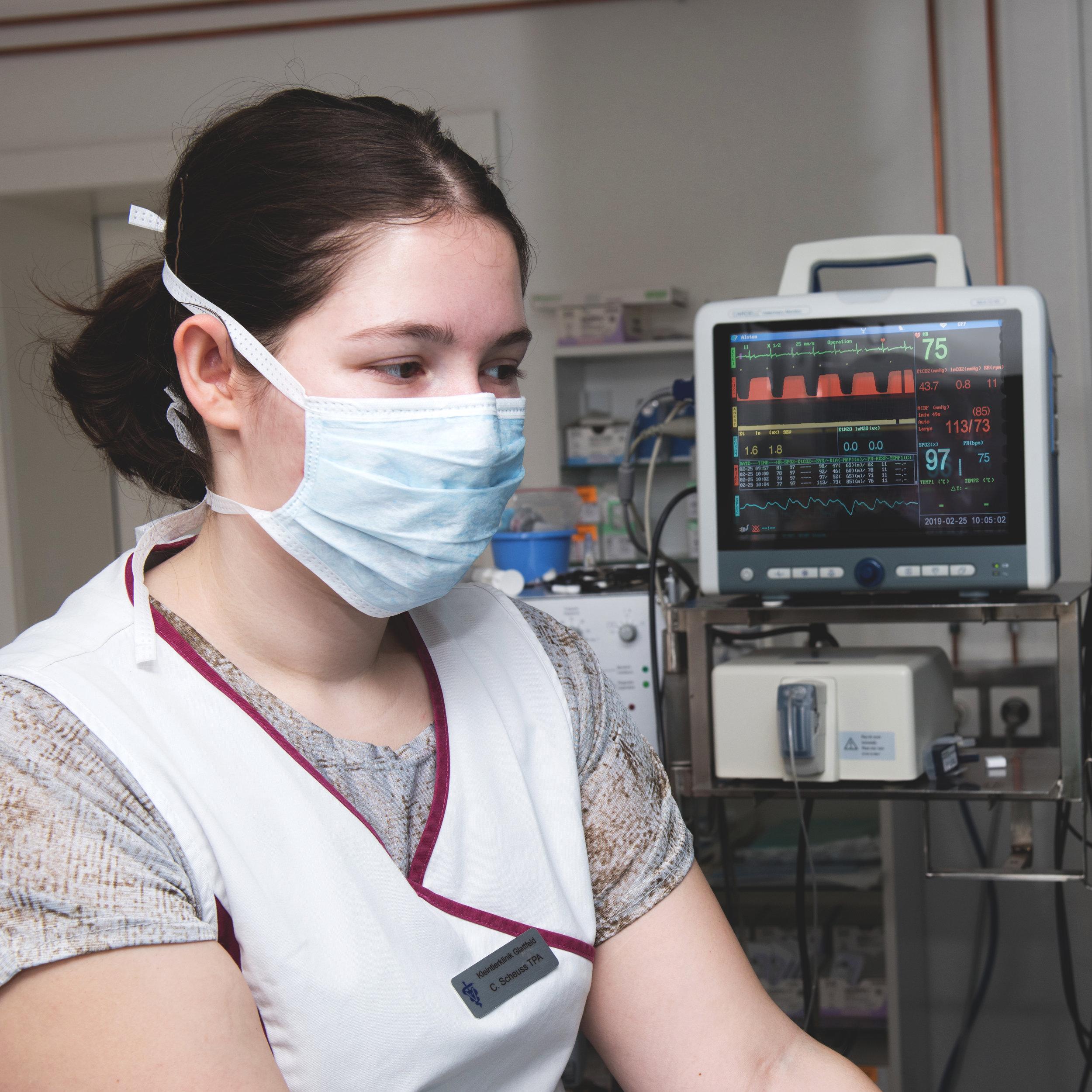 Anästhesie - Eine wichtige Rolle bei Operationen spielt auch die Narkoseführung und Überwachung des Patienten sowie eine optimale Schmerztherapie.