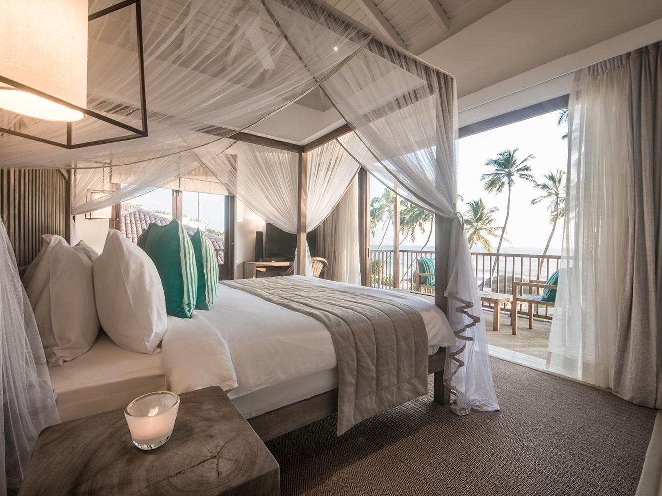 Some winter sun at Kumu Beach hotel on a boutique luxury Sri Lanka holiday.