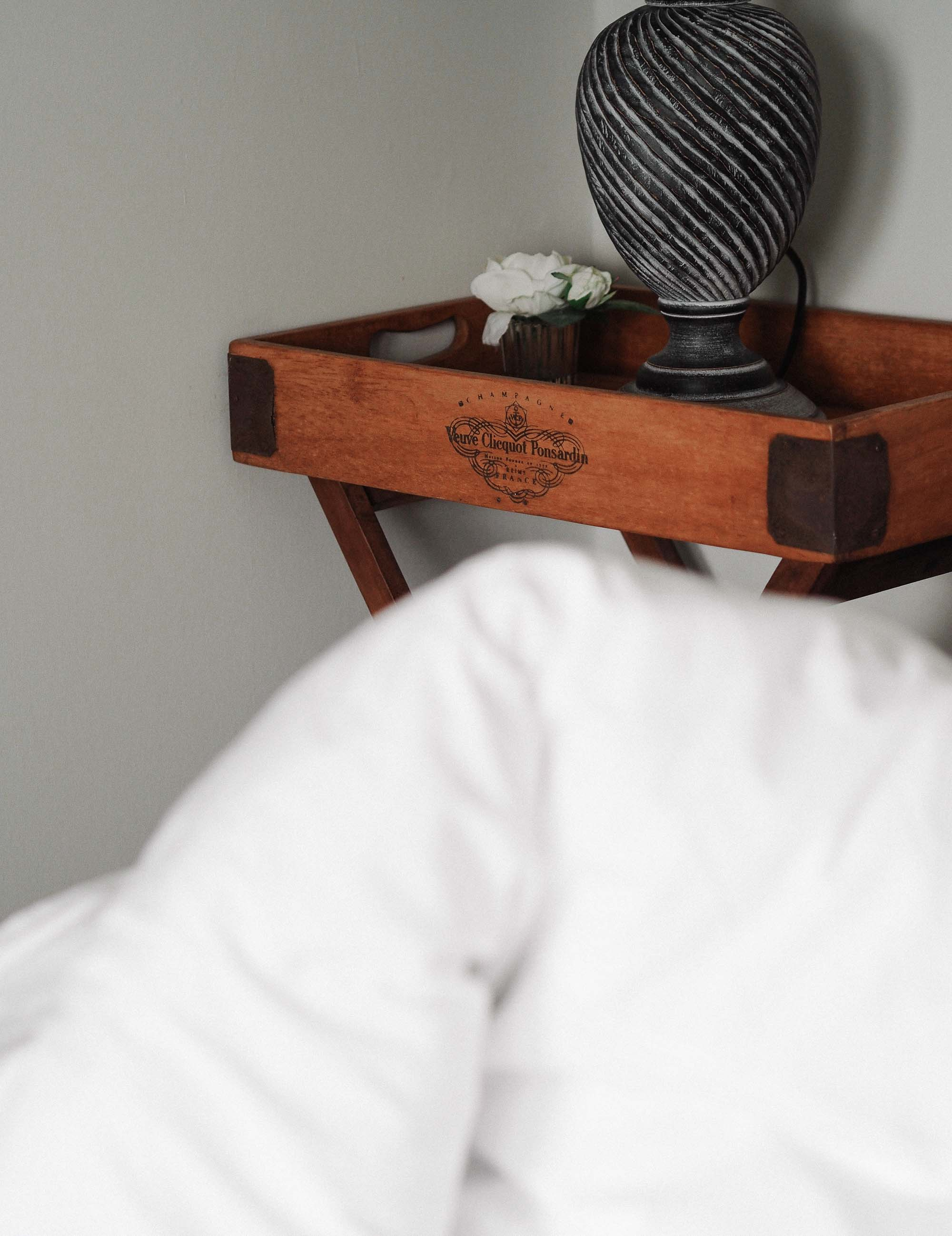 5 Veuve clicquot tray as nightstand.jpg