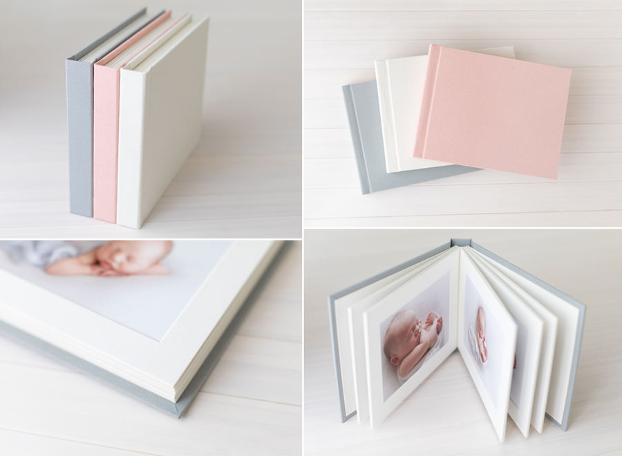"""LINEN ALBUMS - A perfect gift idea for grandparents, family and friends!These gorgeous 5 x 7"""" traditional matted linen albums contain 10 of your favourite prints. Available in 3 beautiful colours, dusty pink, ivory and light grey.From $195 each"""