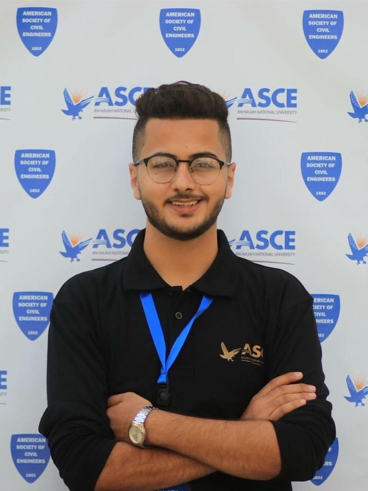 """GHALI - Ghali is an engineering student from Nablus, who has been volunteering and training with Zimam since 2016. Recently, Ghali joined Zimam's Leadership Incubator.""""Zimam is not just a youth foundation, it has also changed me and helped me to become a more ambitious person. A person who has a goal in life to build change and help in developing my society."""""""