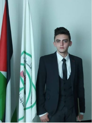 """QAIS - Qais is a 19-year-old student from Nablus, where he studies English Literature and Hebrew Language at Al-Najah University. Born in Dubai and moving to the region in early 2016, he started youth activism with Zimam because he believes in the two state solution, non-violence and civic peace. Qays today is the Coordinator of the English Department at Al-Najah University, and a member of the Zimam Youth Advisory Council. One of Zimam's most active young leaders, he started by inviting many of the young students that he met in the English Department at university to Zimam's leadership programs. Today, thanks to Qays' leadership and support, many of them have grown into young leaders and influencers in their communities.""""There is no alternative for the Palestinians and the Israelis but peace. Occupation must come to an end. We deserve liberty after tens of years of oppression."""""""