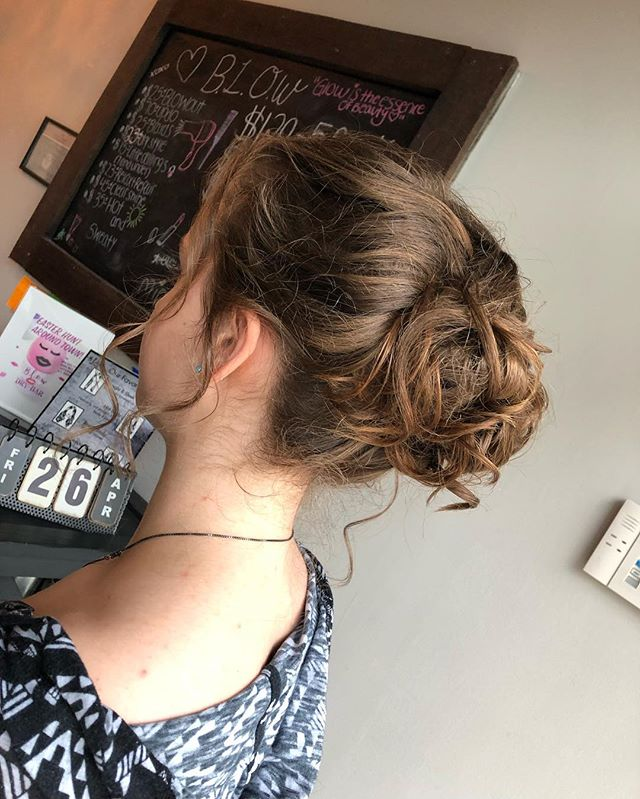junior prom updo🤯🥰 #hair #updo #prom #love #fun