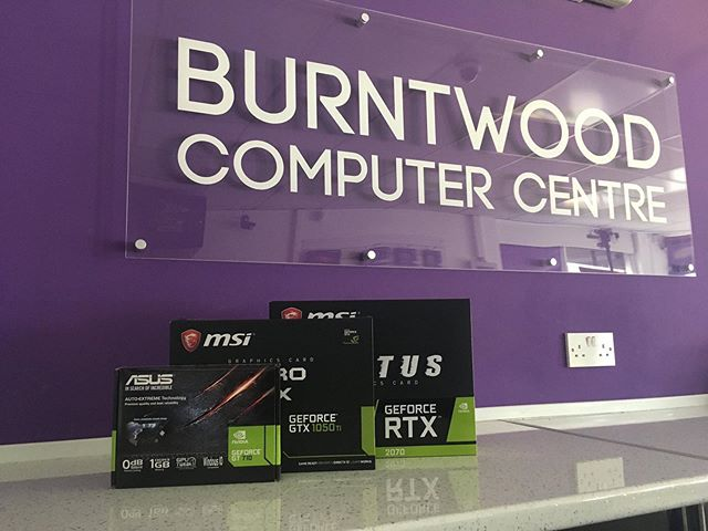 We stock and can get a range of graphic cards in for whatever you need them for. From simple graphical needs to high end gaming we have you covered!  Drop us a call on 01543 624500 or pop in store to have a chat with our technicians.  #computer #gaming #graphicscard #graphics #msi #gtx #gtx710 #gtx1050 #gtx2070
