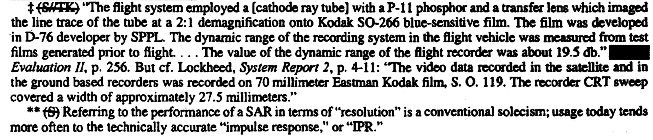 Kodak's role in Quill SAR