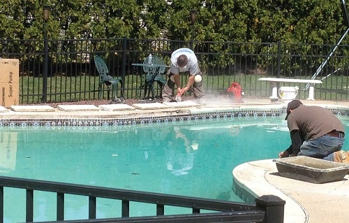 TILE & COPING - Loose tile and coping can be hazardous and a complete eye sore! If you are looking to give your pool a small face lift, tile and coping repair may the the answer for you!