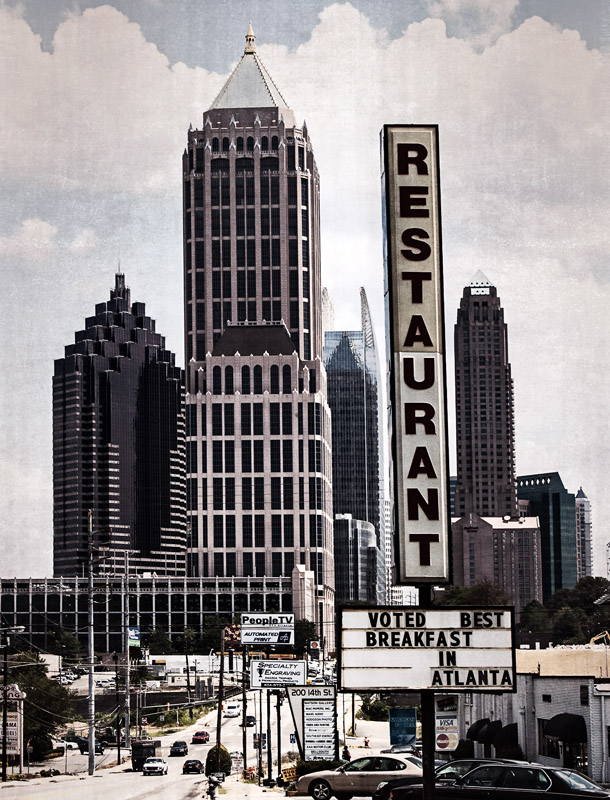 Best Breakfast In Atlanta Silver Skillet Atlanta, GA  archival pigment print 40 x 30 inches