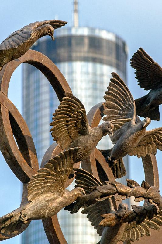 Olympic Doves Centennial Olympic Park Atlanta, GA  archival pigment print 45 x 30 inches