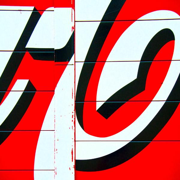 Abstract Coke Atlanta, GA  archival pigment print 30 x 30 inches