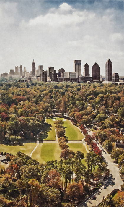 Ansley From Above Atlanta, GA  archival pigment print 30 x 30 inches