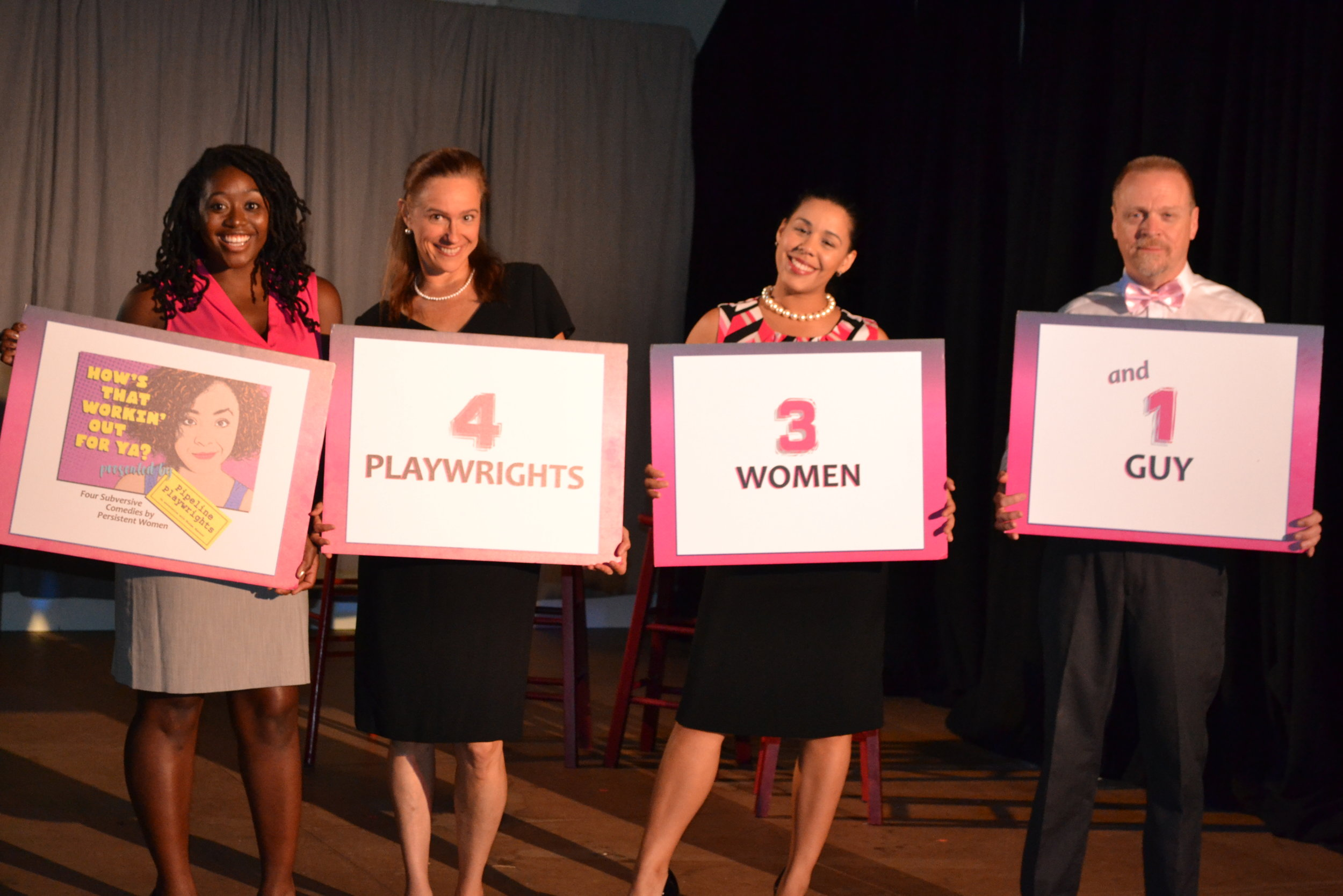 Kanysha Williams, Carol Cadby, Natasha-lee Loyola, and Kevin Dykstra in  How's That Workin' Out For Ya?