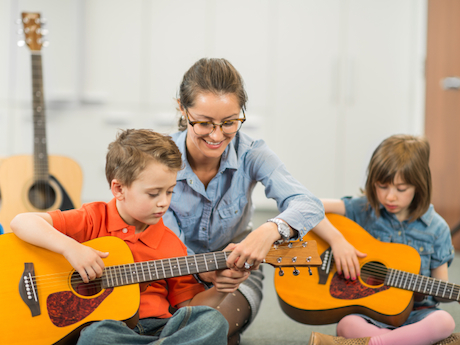 Music Lessons - Music training classes will be available to help your child grow in his/her gifting, with a curriculum consisting of acoustic guitar and beginner piano.