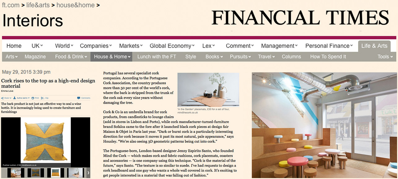 mind the cork in Financial Times - May 2015