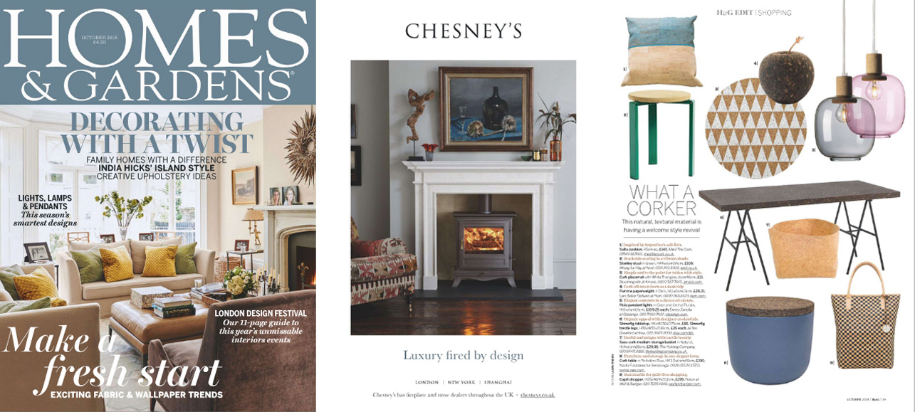 mind the cork in Homes & Gardens - October 2015