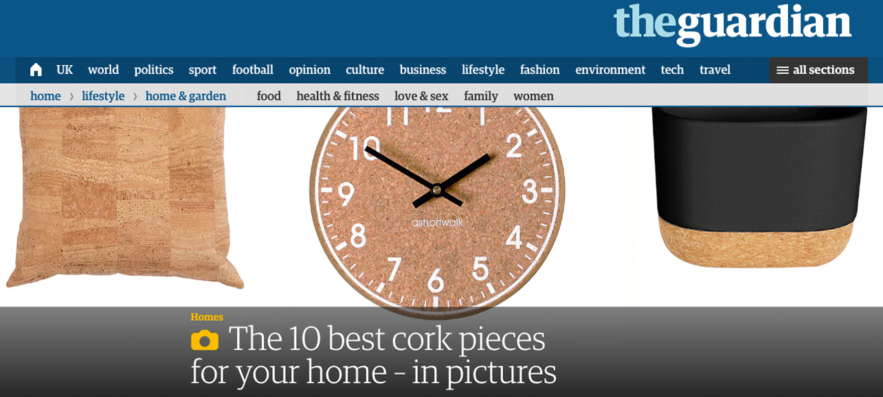 mind the cork in The Guardian - February 2017