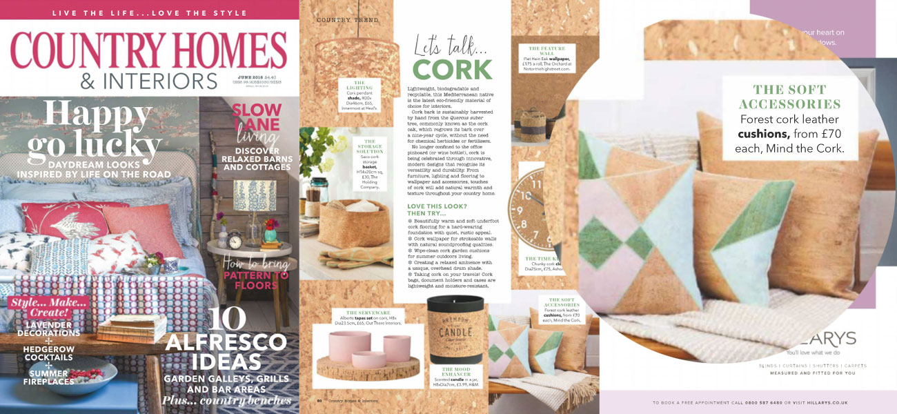 mind the cork in Country Homes & Interiors - June 2018