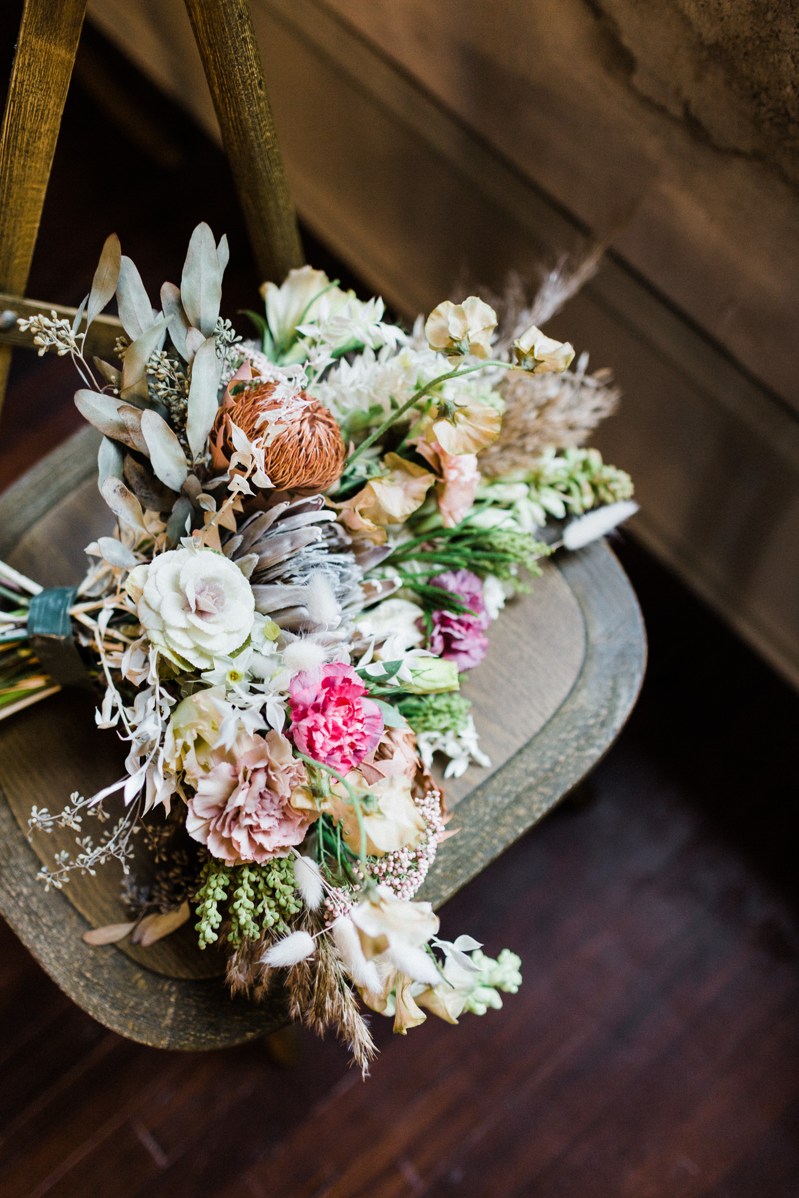 Wedding bouquet at the century hall