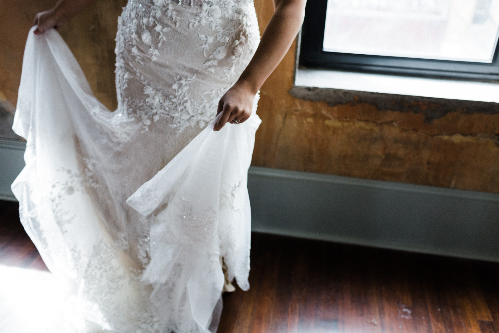 Wedding dress picture at the Century Hall in Fort worth, texas
