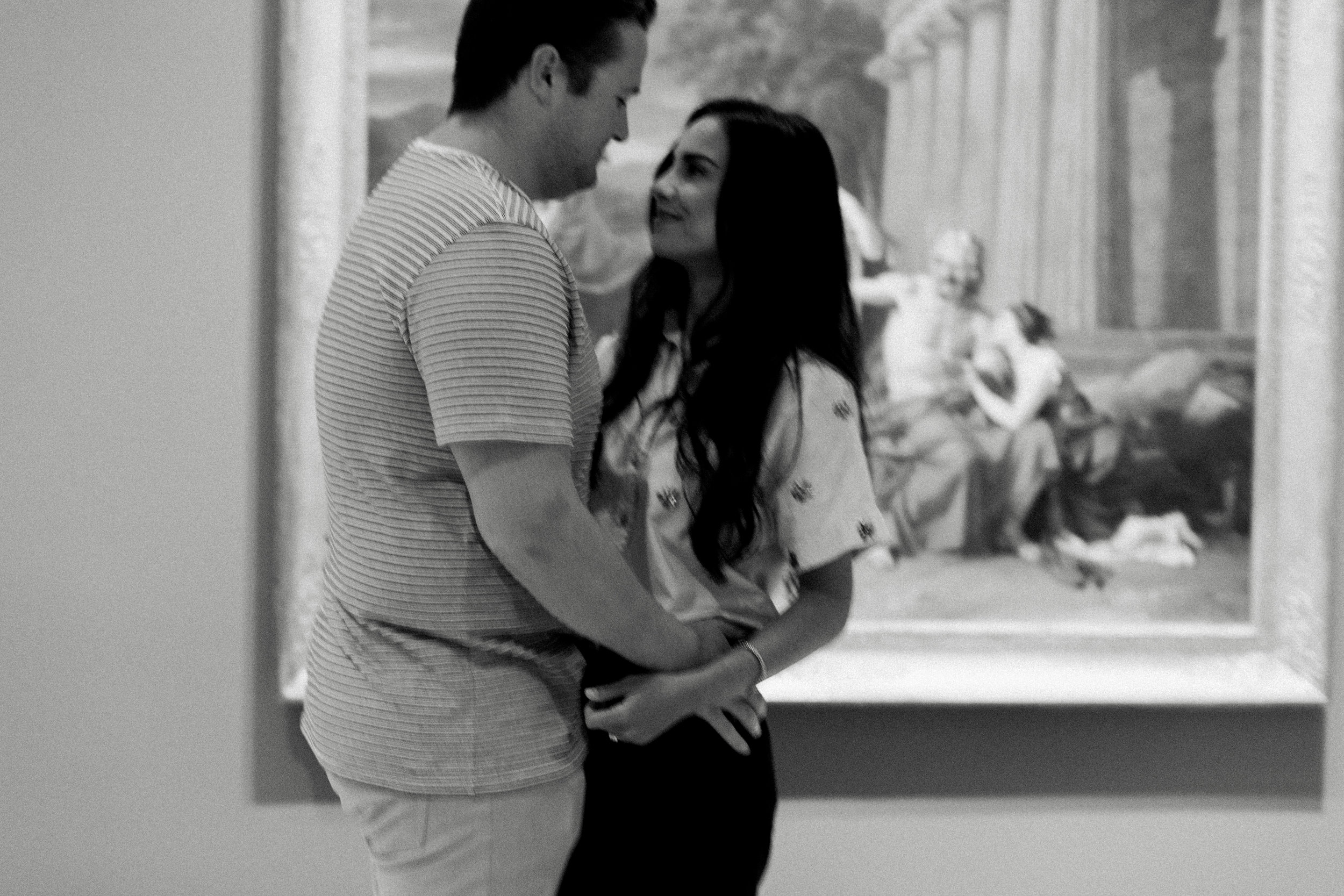 Art Gallery Engagement Couple Picture