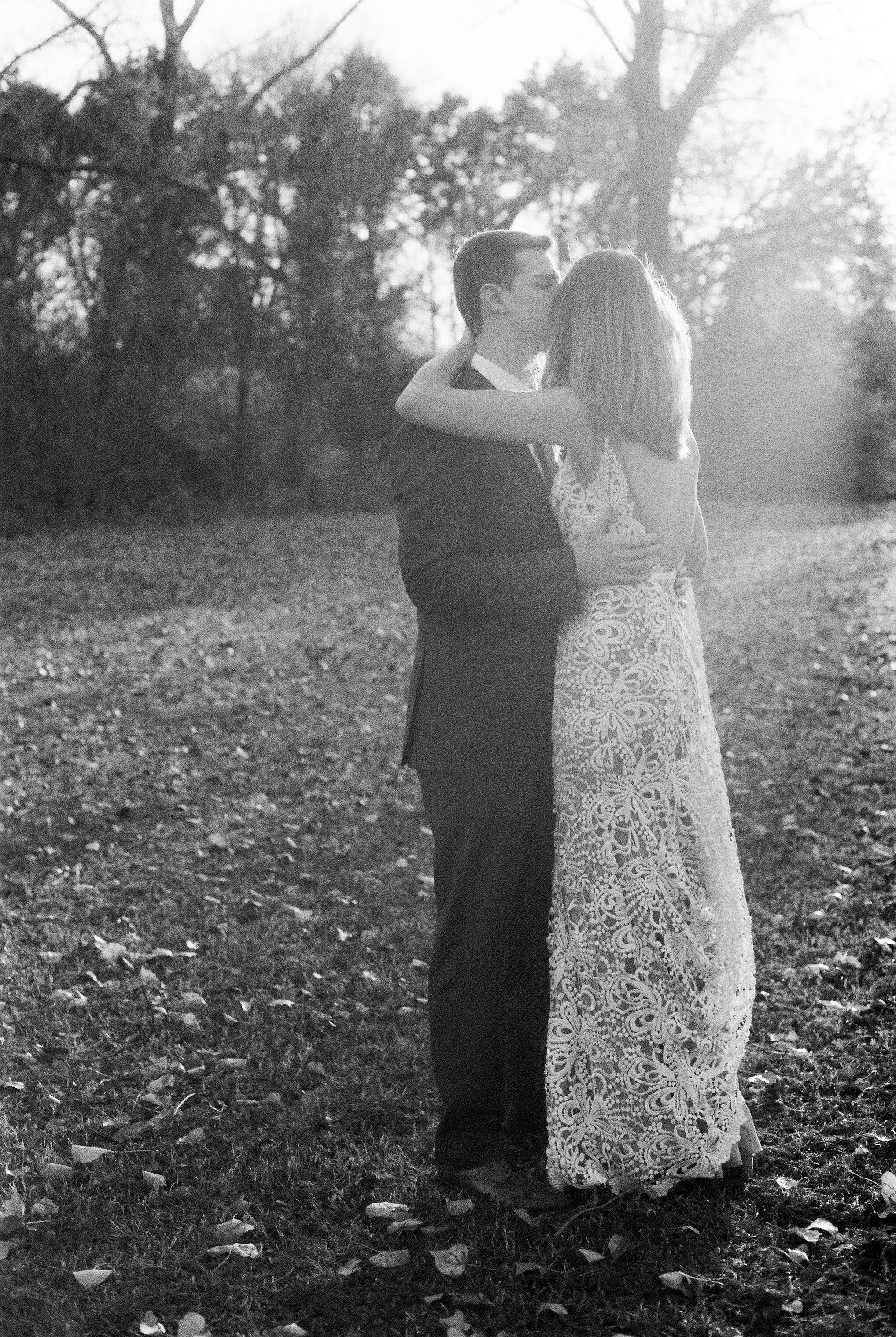 Wedding Bridals on Black and White 35mm Film