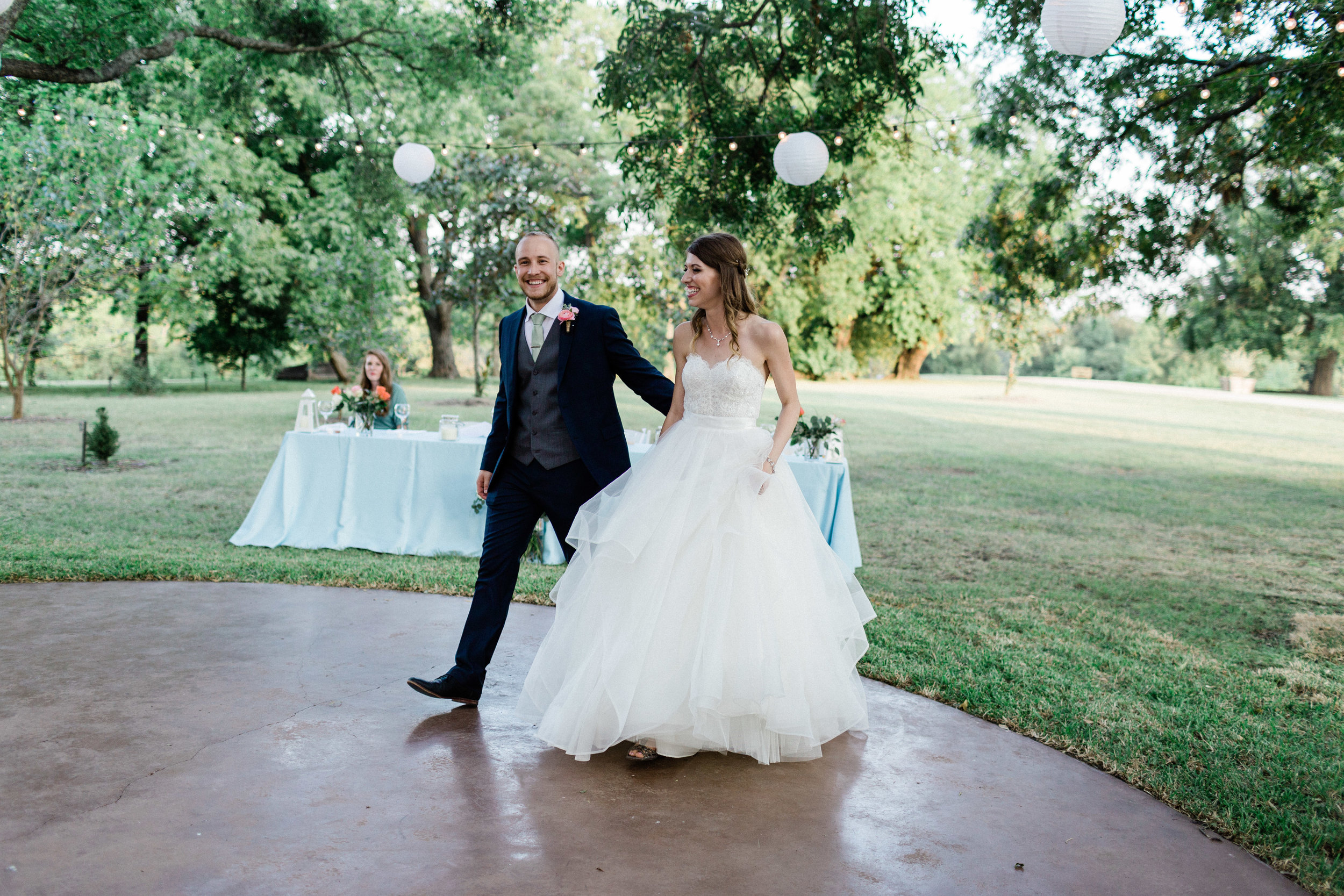 Wedding reception at Chandlers gardens