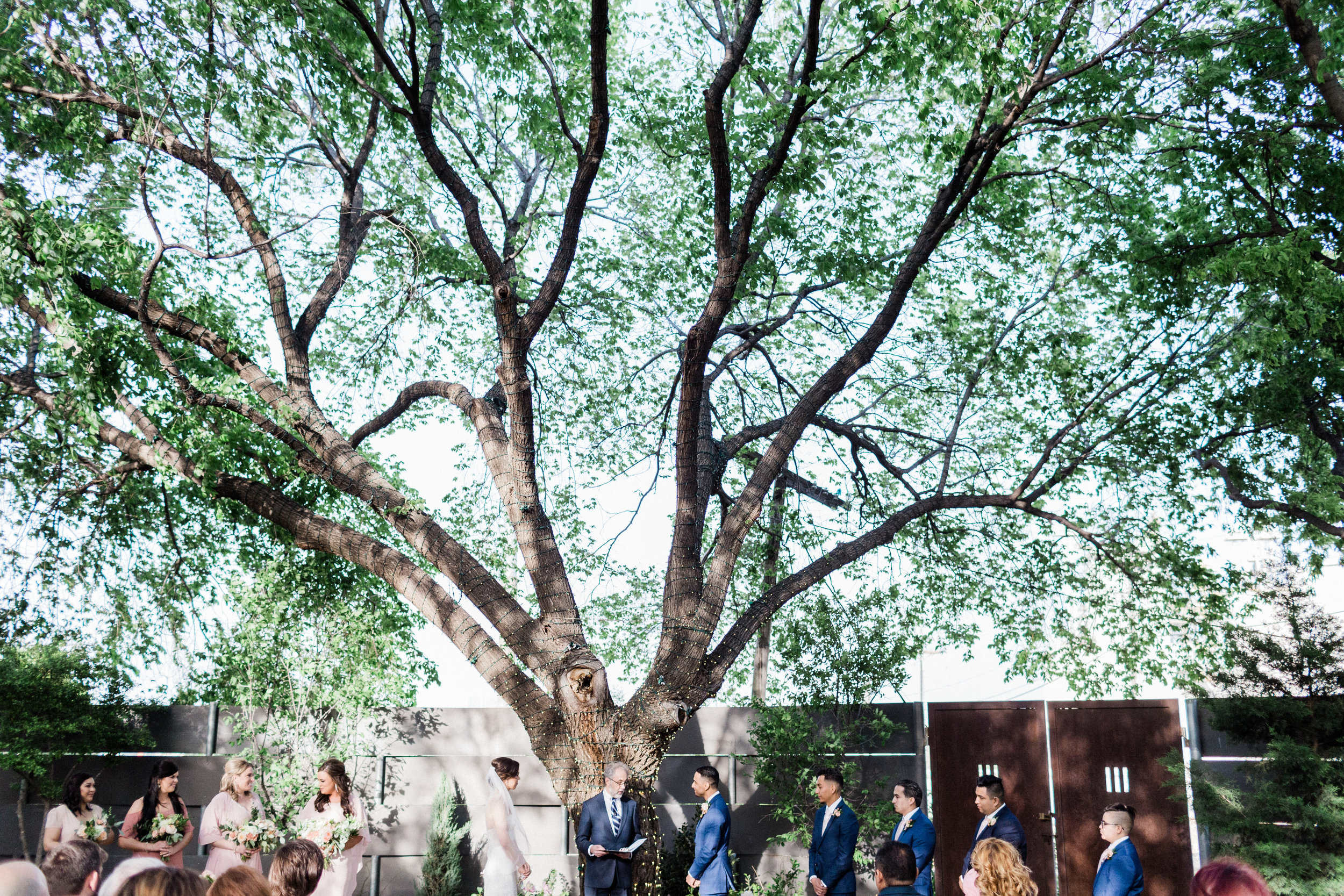 Ceremony space at Outdoor Wedding in Fort Worth Texas at Artspace 111