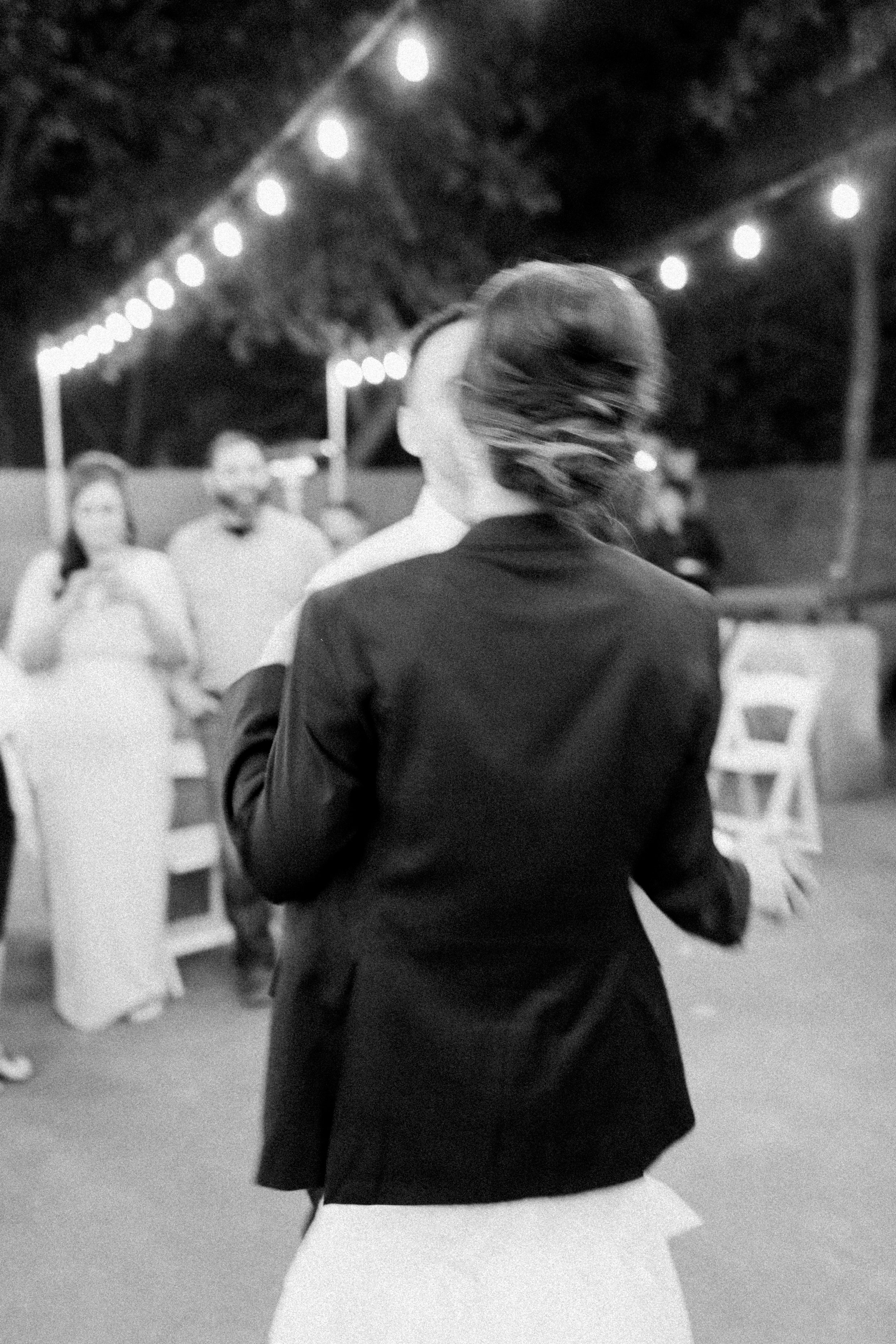 Couples first dance at Outdoor Wedding in Fort Worth Texas at Artspace 111