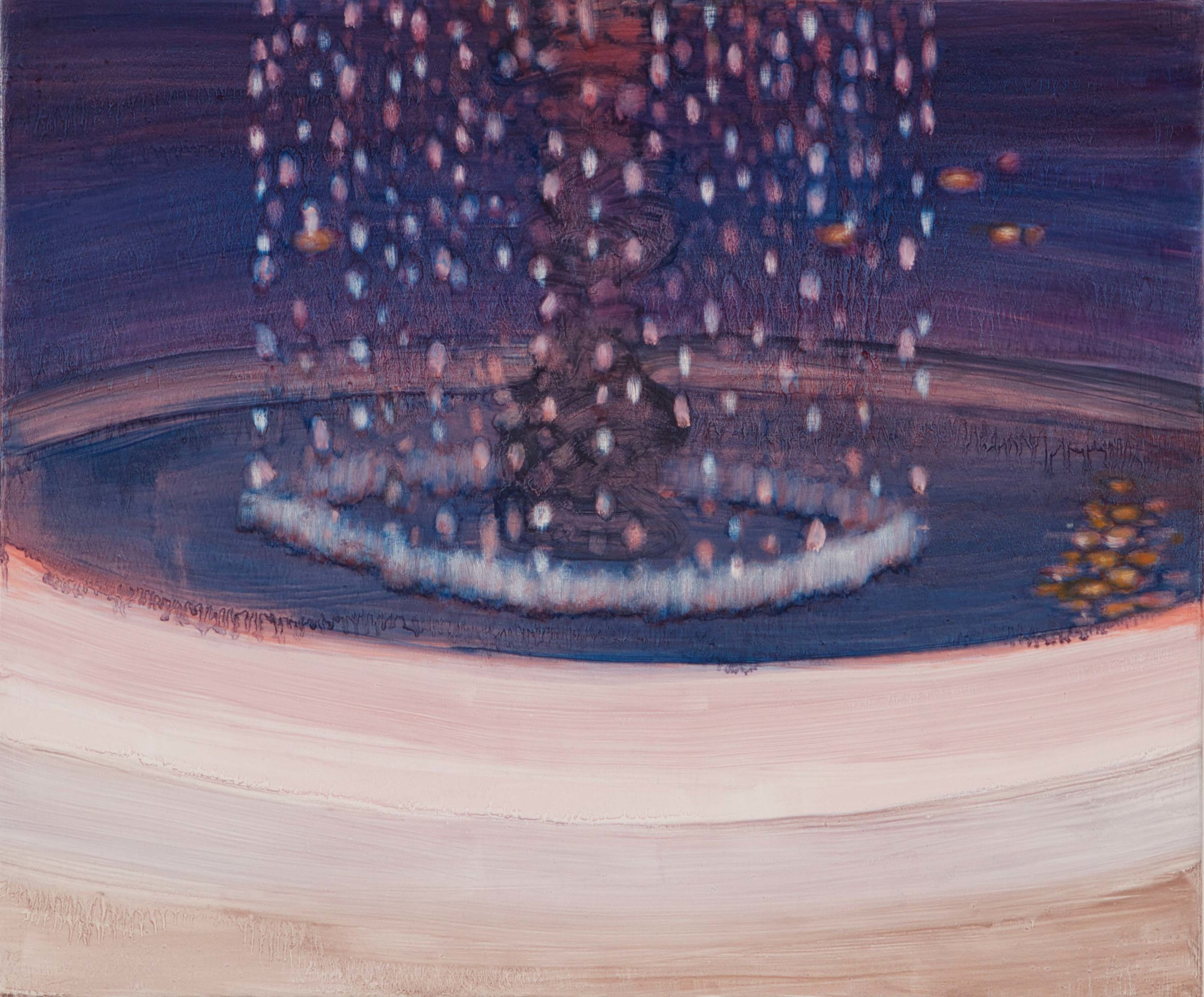 "Small Fountain, 14"" x 17"""