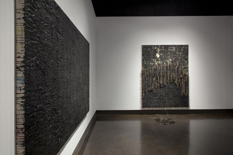 Nicole Collins,  HEAVY: Black Paintings , University of Waterloo Art Gallery, Waterloo, Ontario  Photography: Robert McNair