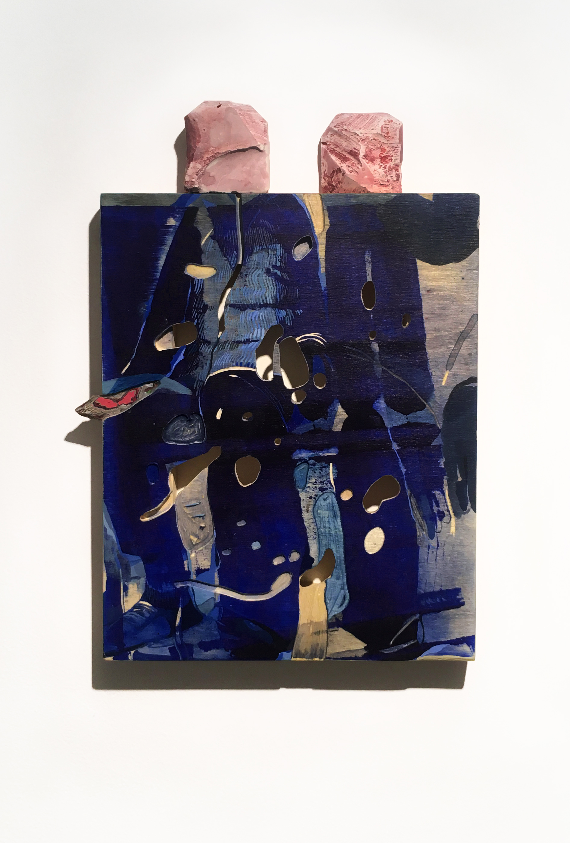 """Two Suits Commute, irregular 10"""" x 8"""""""