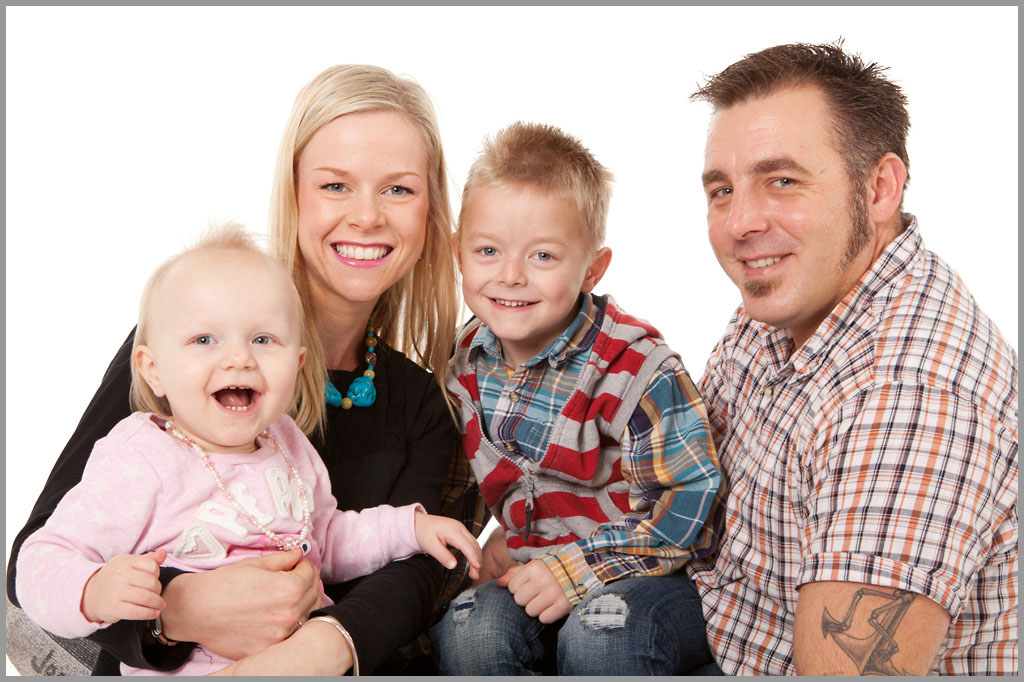 Studio family portrait photography taken by Keith Mindham.