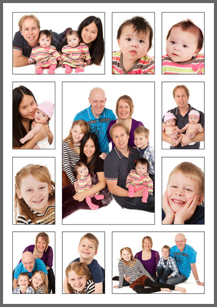 P11P  Your eleven favourite images designed on one 594x420mm (A2) print with thin black borders around each photograph. Print only £59.00.  P11L  Landscape version also available.