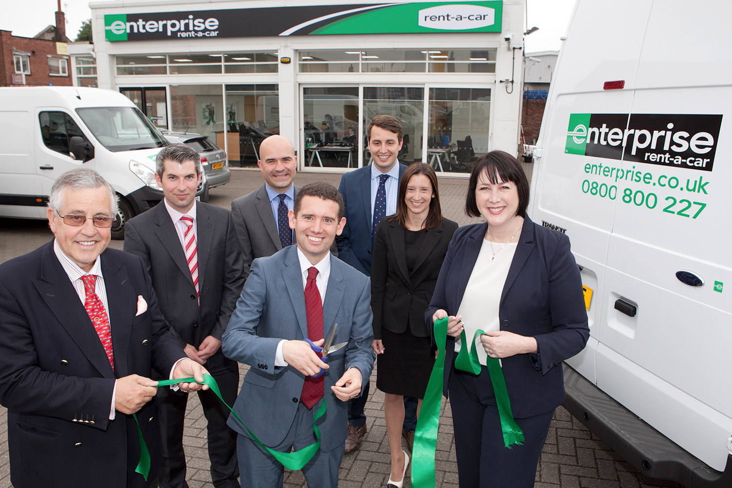 Enterprise rent a car opening event in Norwich. Photo: Keith Mindham