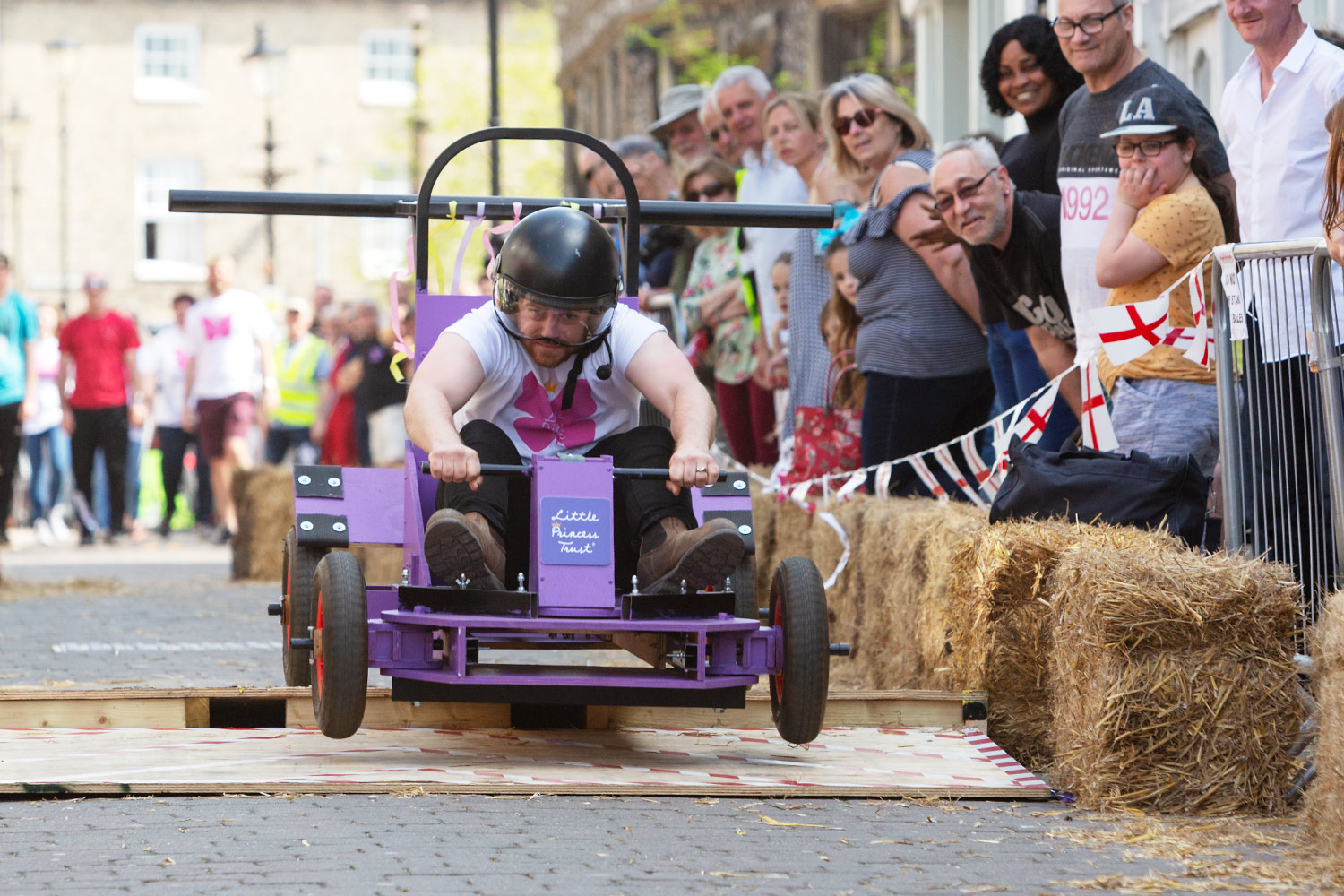 Soap box racing along King Street, Thetford.