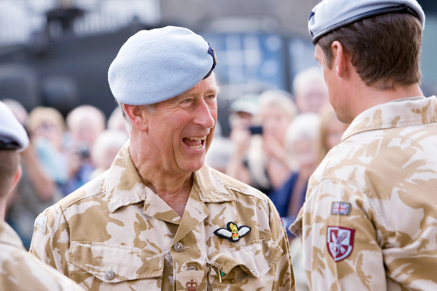 Prince Charles inspects RAF Regiment during visit to Bury S Edmunds. Photo: Keith Mindham